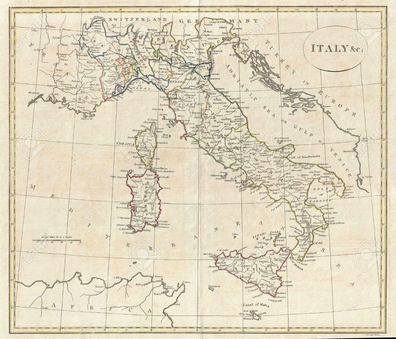 Mappa Dellitalia Antica.Vecchia Mappa Di Italia Mappa Di Italia Antica Europa Del Sud Europa