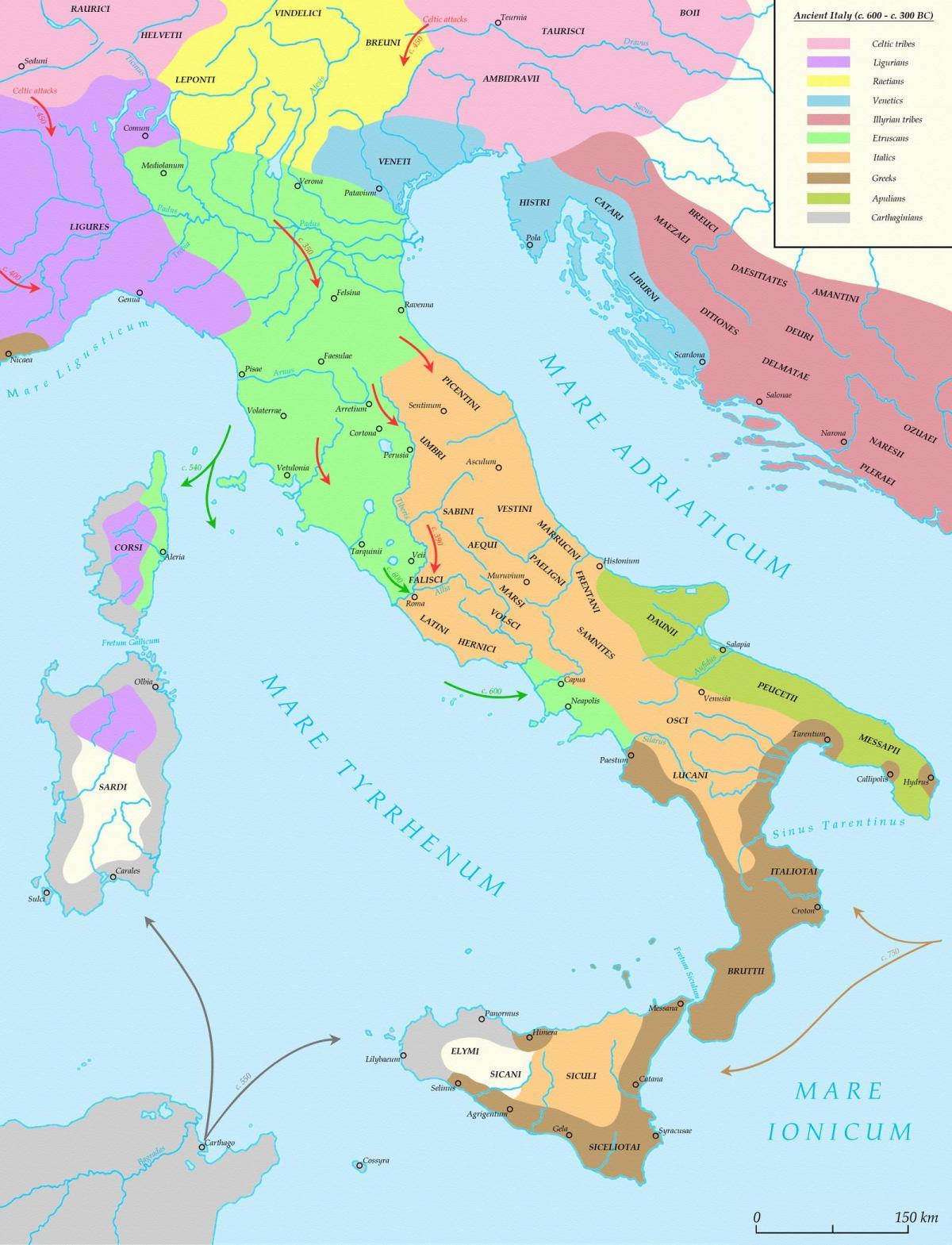 Mappa Dellitalia Antica.Antica Mappa Di Italia Mappa Di Italia Antica Europa Del Sud Europa