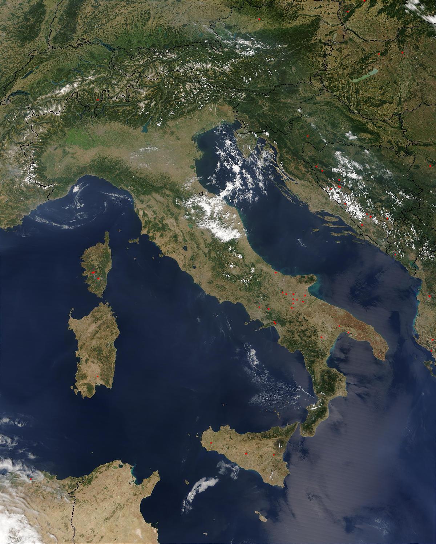 Cartina Geografica Satellitare.Italia Mappa Satellitare Mappa Di Italia Tv Europa Del Sud Europa